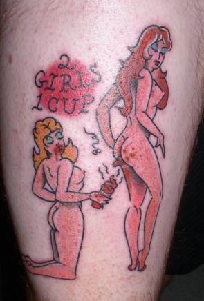 NSFW – 2 Girls 1 Cup Tattoo