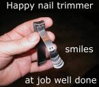 Happy nail trimmer