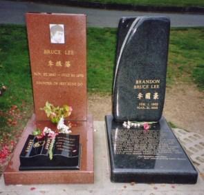 Bruce Lee and Brandon Lee