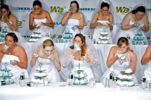 Wedding Cake Eating Contest