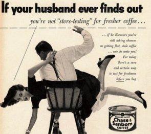1950s Chase & Sanborn coffee ad