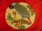 3-Dimensional African Grey Parrot Cookie