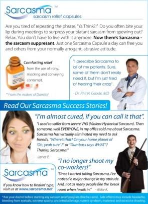 Sarcasma – Sarcasm Relief Capsules