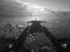 Shadow of a Martian Robot