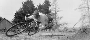 Crazy Vintage Bicycle Rider