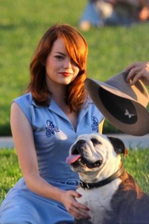 emma and a dog
