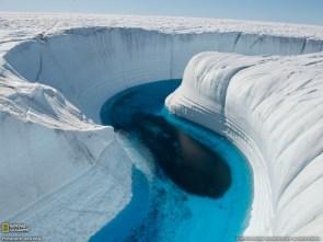 Ice canyon wall