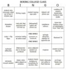 Boring college class Bingo