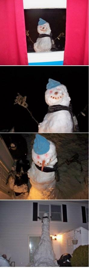 Nightmare snowman
