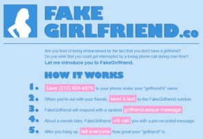 Fake girlfriend