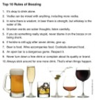 Top ten rules of boozing
