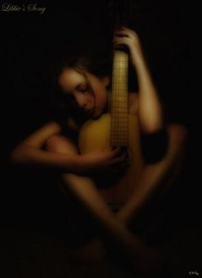 Sexy guitar girl