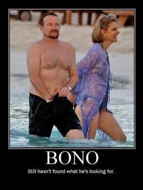 Bono looking