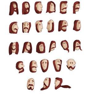 The Alphabet in beard FONT