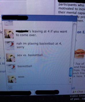 Sex VS basketball