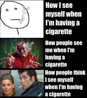 Having a cigarette
