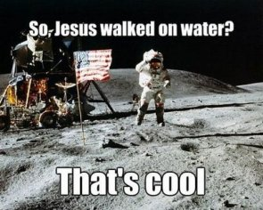 jesus walked on water?