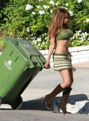 taking out the trash