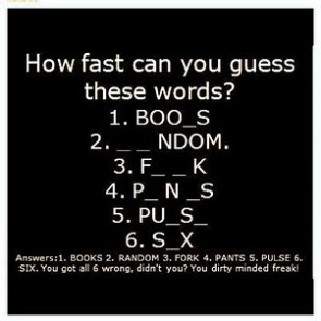 dirty mind?