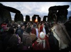 Druids Gather At Stonehenge for Winter Solstice