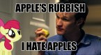 I hate apples