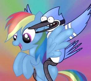 rainbowdash and blue jay