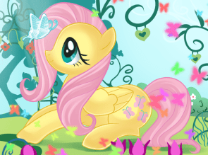 butterfly and fluttershy