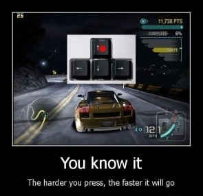 The harder you press..