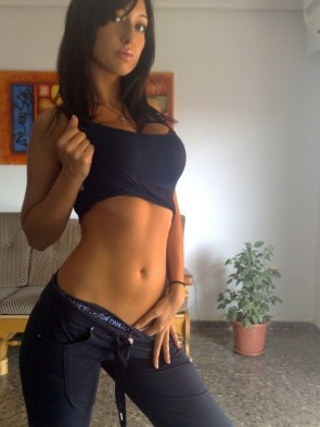 showing off the abs
