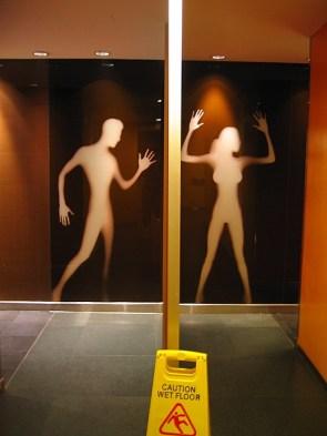 Gender specific bathroom signs