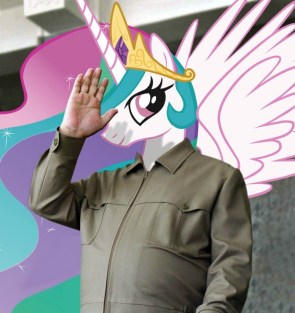 GREAT LEADER OF BESTEST PONYVILLE CELESTIA