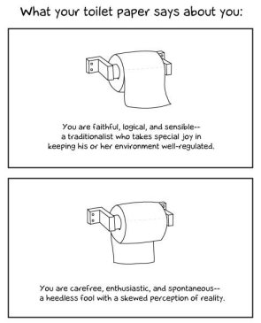 What your toilet paper says about you