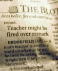 Teacher might be fired over remark