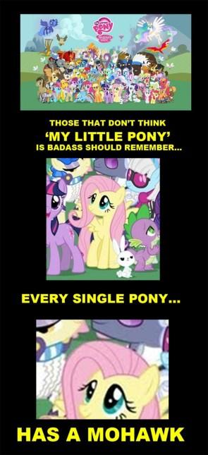 pony mohawk