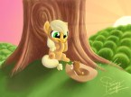 applejack and squirrel