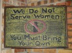 We do not serve women