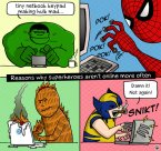 Why superheroes don't get online