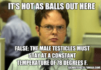 Hot as balls