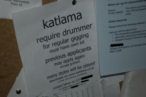 Drummer Needed…