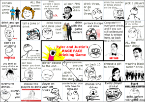 Rage face drinking game