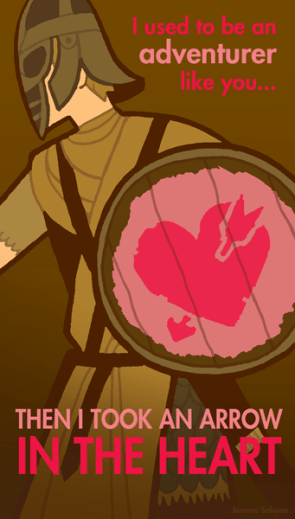 Valentine arrow