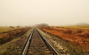 Train tracks wallpaper