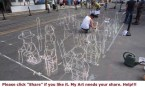 Chalk Art Lego Men