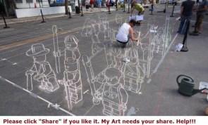 Chalk Art Lego Men