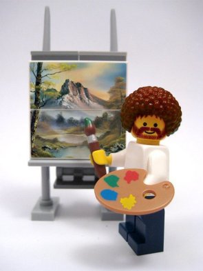 Bob Ross Lego