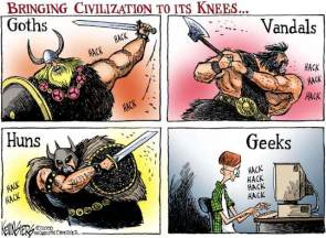 Bringing civilization to its knees