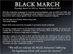 Black March (as in month, as in protest)
