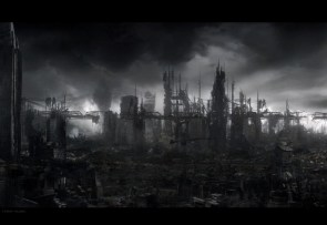 A ruined city