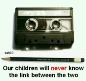 Our kids will never know..