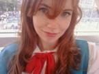 ginger school girl